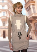 "Sweat shirt-dress ""Bear"""
