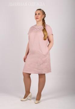 Linen dress with embroidery, Holy Rus