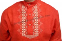 Red shirt with embroidery