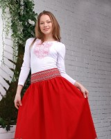 "The skirt ""Scarlet Dawn"""
