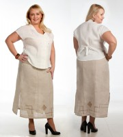 Linen skirt embroidered 6-13